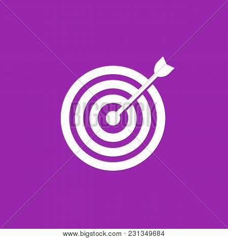 Arrow In Center Of Target Vector Icon, Eps 10 File, Easy To Edit