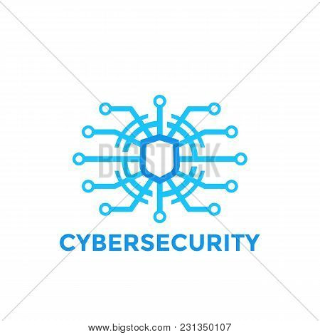 Cyber Security Vector Logo Template, Eps 10 File, Easy To Edit