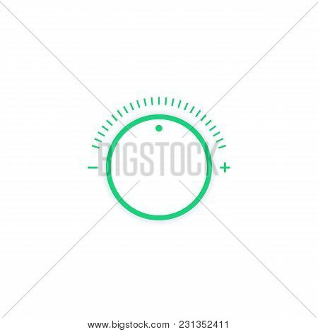 Control Knob, Adjusting Regulator Vector Illustration, Eps 10 File, Easy To Edit