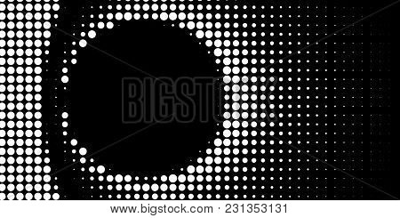 Abstract Halftone Texture With Dots. Vector. Modern Background For Posters, Websites, Web Pages, Bus