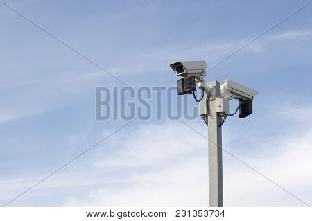 Outdoor Cctv Surveillance Camera That Works For Security In The Industry