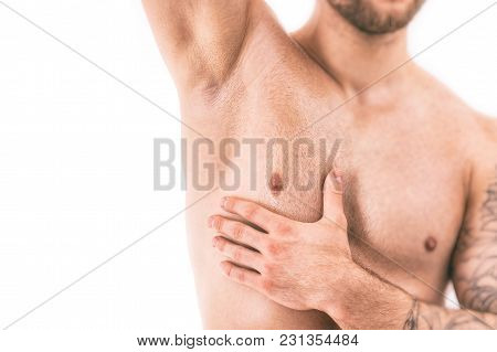 Muscular Male Torso With Focus On Armpit