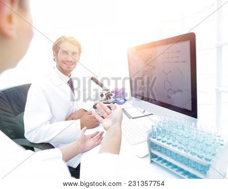 A beautiful laboratory woman is tested and experimented