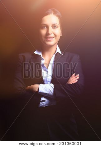 portrait of young business woman.