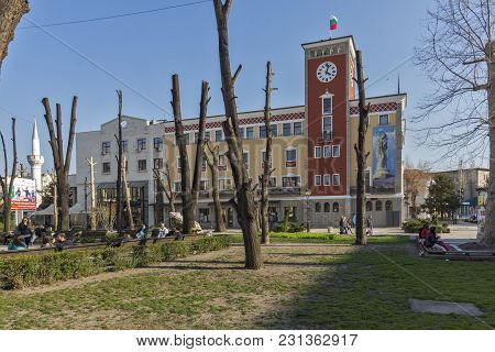 Haskovo, Bulgaria - March 15, 2014: Building Of Town Hall In The Center Of City Of Haskovo, Bulgaria