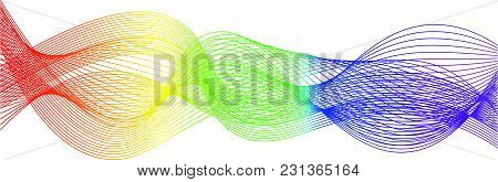 Rainbow Abstract Sound Wave Line On White Background
