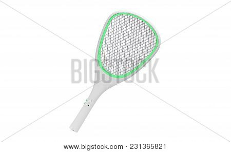 A Mosquito Racket Isolated On White Background