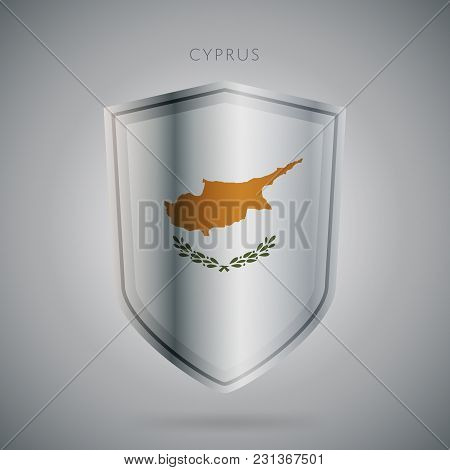 Flags Europe Vector Icon. Cyprus Flag, Isolated. Modern Design. National Country Flag. Country Of Me