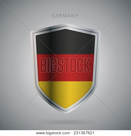 Flags Europe Vector Icon. Germany Flag, Isolated. Modern Design. National Country Flag. Country Of M