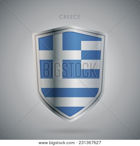 Flags Europe Vector Icon. Greece Flag, Isolated. Modern Design. National Country Flag. Country Of Me