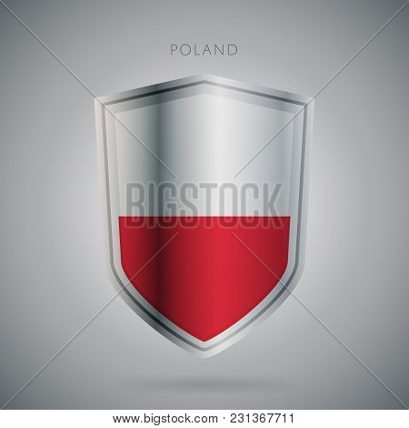 Flags Europe Vector Icon. Poland Flag, Isolated. Modern Design. National Country Flag. Country Of Me