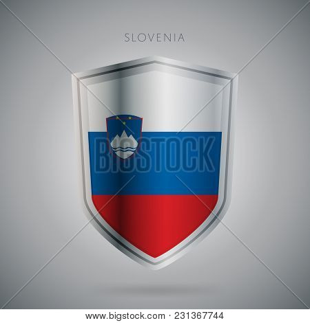 Flags Europe Vector Icon. Slovenia Flag, Isolated. Modern Design. National Country Flag. Country Of