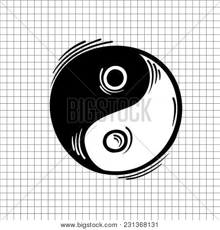 Illustration of yin yang icon