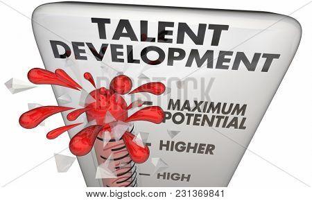 Talent Development Training Reach Your Potential Level 3d Illustration