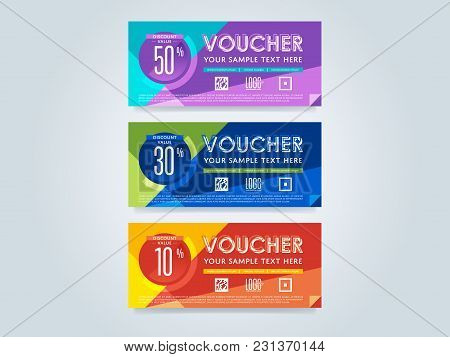 Gift Discount Voucher Template, Vector Layout. Special Offer Coupon. Business Voucher Layout.
