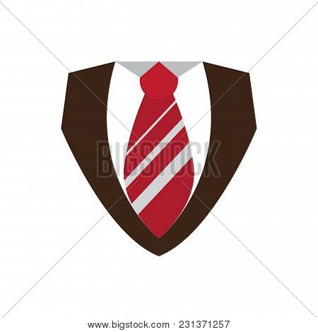 Male Clothes With Necktie Icon. Vector Illustration Design