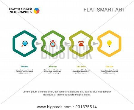 Four Phases Process Chart Slide Template. Business Data. Review, Plan, Design. Creative Concept For
