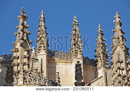 Gothic Spires from the Cathedral in Segovia, Spain