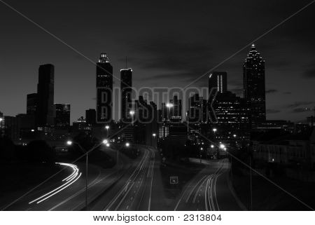 Black And White Photograph Of Downtown