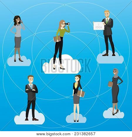 Recruitment Or Business Partners Search, Cartoon Vector Illustration
