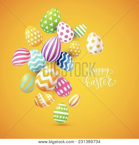 Vector Happy Easter Card Design