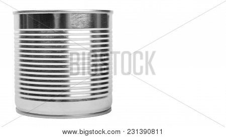 Aluminum Container Can. Isolated On White Background. Copy Space, Template.