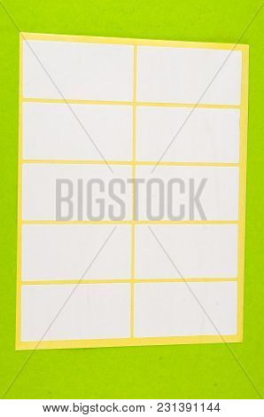 Photo Picture Of Blank Paper Tag Adhesive Label