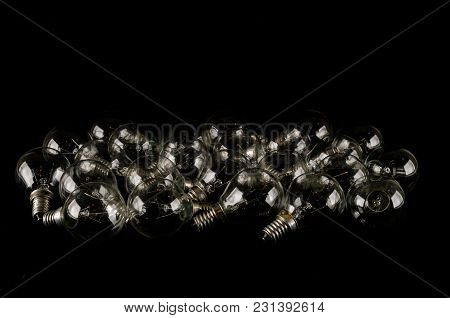 Texture Background With A Lot Of Light Bulbs