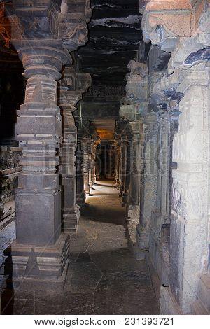 Bhuleshwar Main Temple Pillars From Maharashtra India