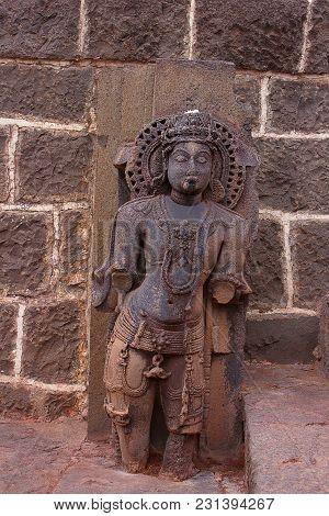 Parvati Statue, Bhuleshwar Temple Entrance, Maharshtra India