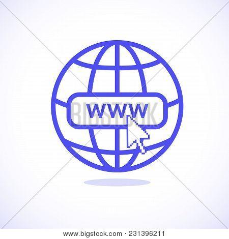 Www Internet Icon Favicon With Arrow Mouse Cursor
