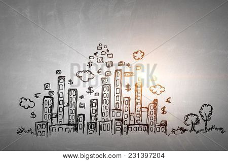 Business concept backdrop