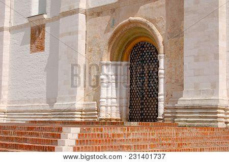 The Old Door In Church, Russia, Rostov