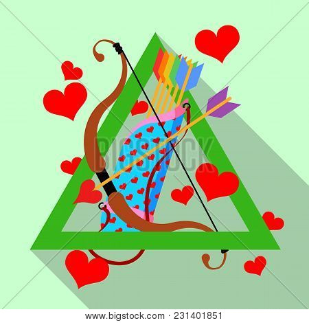 Gay Valentines Day Stock Vector Illustration. Rainbow Feather Arrows And Cupid Bow. Stylised Lgbt Fl