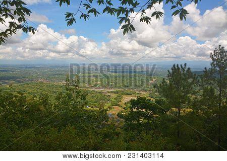 Panoramic Of Yogyakarta Valley Viewed From Puncak Becici, Bantul, Yogyakarta, Indonesia