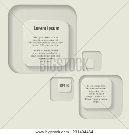 Abstract Background With Round Corners Squares And Sample Text