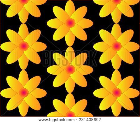 Bright Flowers Can Create A Summer Atmosphere Of Your Work.