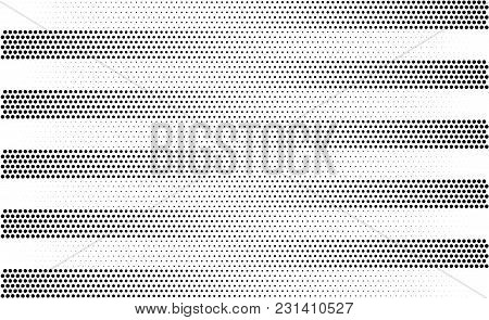 Halftone Gradient Stripes. Vector Striped Monochrome Background