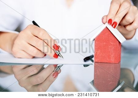 Contract Signing Of A New House, Real Estate Concept