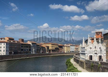 Pisa, Tuscany, Italy: The Historic Church Of Santa Maria Della Spina, Along The Arno River