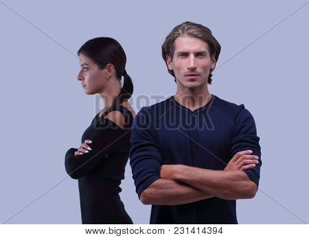 young couple with marital problems