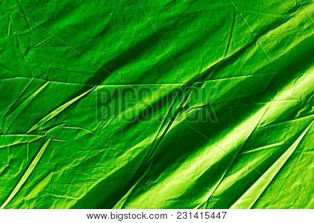 Green Awning As A Background. Abstract Texture