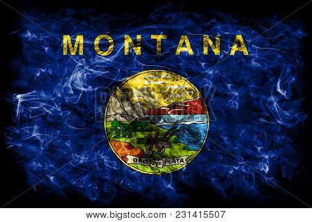 Montana State Smoke Flag, United States Of America