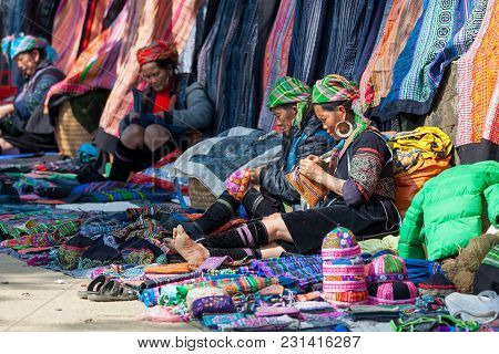 Street Scene With Local Hmong People