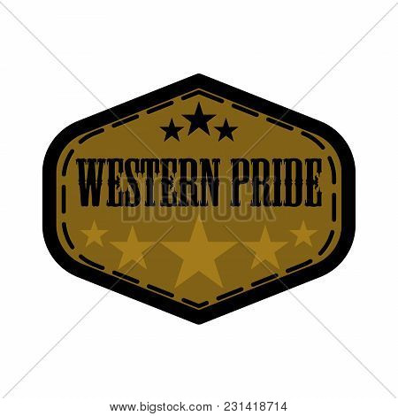 Western Pride Label Illustration Isolated On White