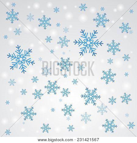 Snow Fall. Winter Background. Seasonal Vector Illustration