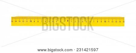 ruler isolated on white background