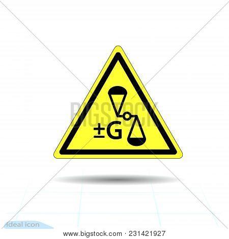 Hazard Warning Anti Gravity, Change Gravity Sign. Vector Illustration, Eps10 Antigravity