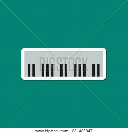 Paper Sticker On Stylish Background Of Piano Keys