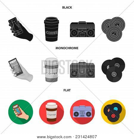 Hipster, Fashion, Style, Subculture .hipster Style Set Collection Icons In Black, Flat, Monochrome S